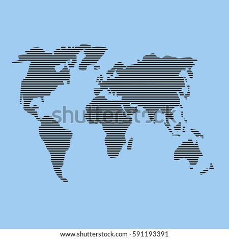 World map beautiful image icon original stock vector 591193391 world map beautiful image icon the original black lines on a blue gumiabroncs Gallery