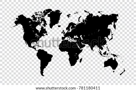 Blue world map isolated on transparent vectores en stock 772619086 world map black map of world on transparent background vector illustration eps10 gumiabroncs Choice Image