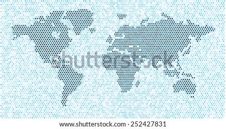 World map blue dots eps 10 stock vector 252427831 shutterstock world map blue dots eps 10 gumiabroncs Images