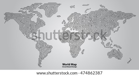 World map circuit board design stock vector hd royalty free world map circuit board design stock vector hd royalty free 474862387 shutterstock gumiabroncs Gallery
