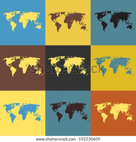world map collection
