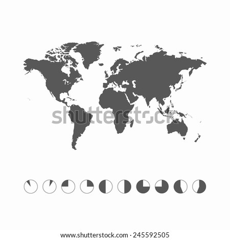 World Map - Collection of world timezone with world map. Vector illustration EPS10. - stock vector