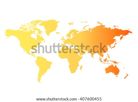 World Map Countries Warm Colors Stock Illustration - Earth map countries