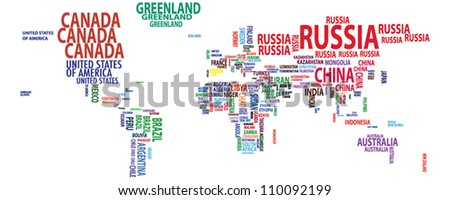 World map/countries/continents/nations vector - stock vector