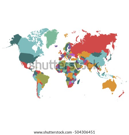 World map-countries. World map vector on white background