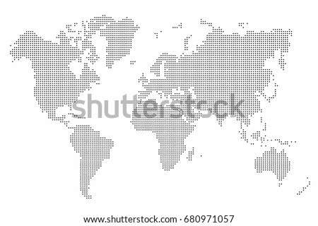World map dot abstract world map vectores en stock 680971057 world map dot abstract world map background vector gumiabroncs Image collections