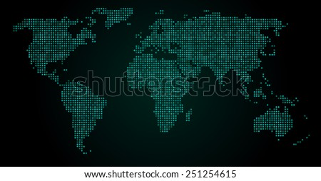 World map blue dots on black stock vector 606744107 shutterstock world map dots eps 10 gumiabroncs Images
