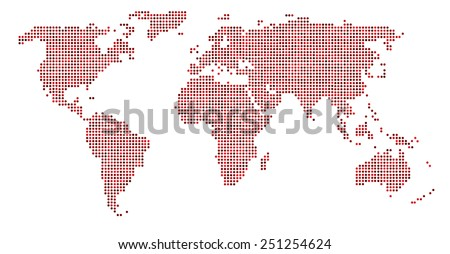 World map dots eps 10 stock vector 251254624 shutterstock world map dots eps 10 gumiabroncs Images