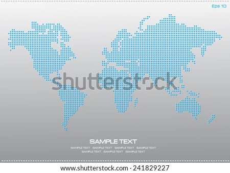 World map dotted illustration internet content vectores en stock world map dotted illustration for internet content poster easy to modify gumiabroncs Images
