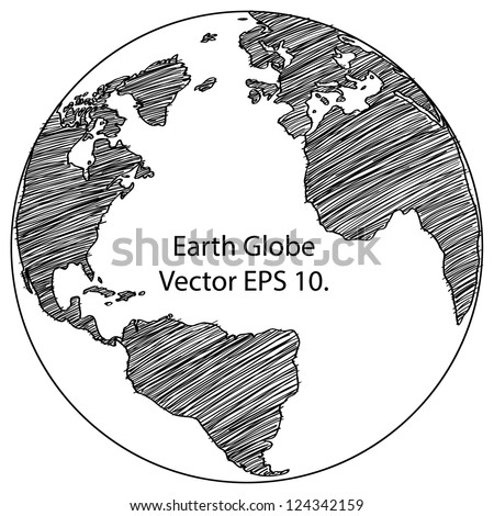 Earth sketch stock images royalty free images vectors world map earth globe vector line sketched up illustrator eps 10 gumiabroncs Image collections
