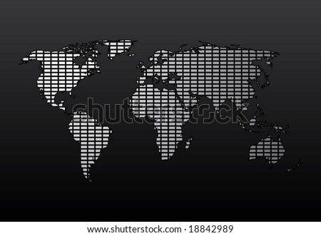 World Map. Easy To Edit Vector Image. - stock vector