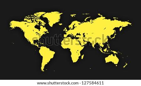 World Map | EPS10 Vector - stock vector