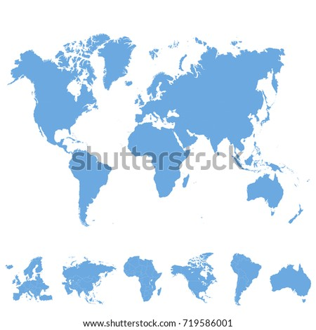 World map europe asia america africa vectores en stock 719586001 world map europe asia america africa australia gumiabroncs Images
