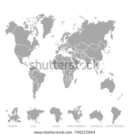 World map europe asia america africa stock photo photo vector world map europe asia america africa australia gumiabroncs Images