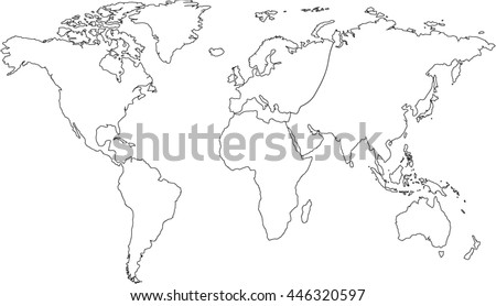 World map europe asia north america stock photo photo vector world map europe asia north america south america africa australia gumiabroncs Gallery