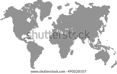 World Map Fill Dots Vector Background Stock Vector 490028107 ...