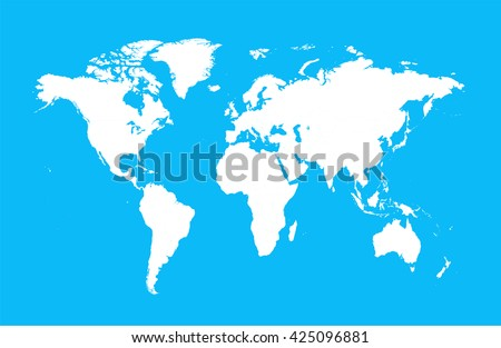 World map flat vector