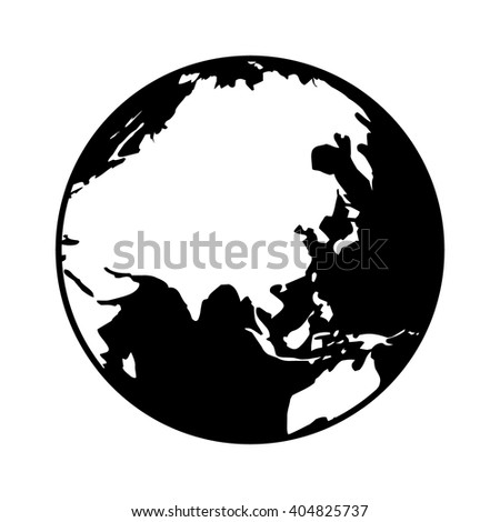 World map globe planet earth showing vectores en stock 404825737 world map globe or planet earth showing asia flat icon for apps and websites gumiabroncs Images