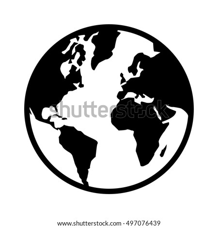Earth world isolated vectores en stock 695295598 shutterstock world map globe or planet earth world map line art icon for apps and websites gumiabroncs Images