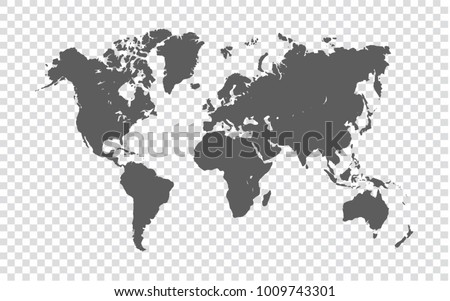 World map gray map world on stock vector 1009743301 shutterstock world map gray map of world on transparent background vector illustration eps10 gumiabroncs Images
