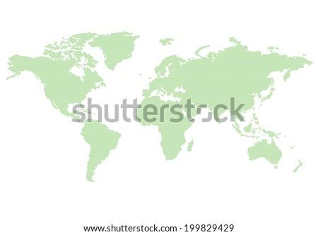 World map green - stock vector