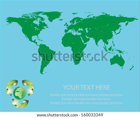 World map green eco.