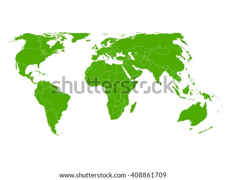 World map green icon