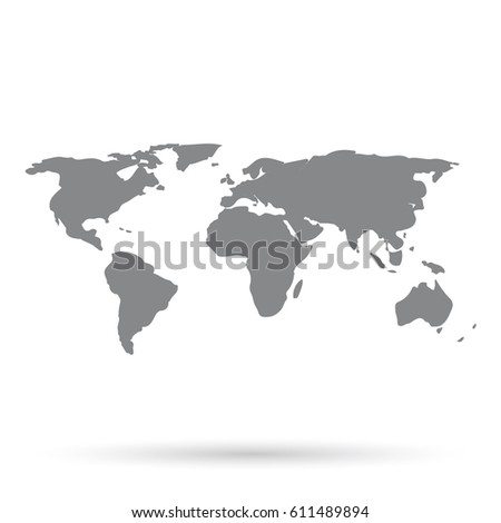 World map grey on white background stock vector 611489894 shutterstock world map grey on a white background gumiabroncs Images