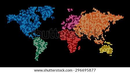 World map hexagon pattern stock vector 296695877 shutterstock gumiabroncs Gallery