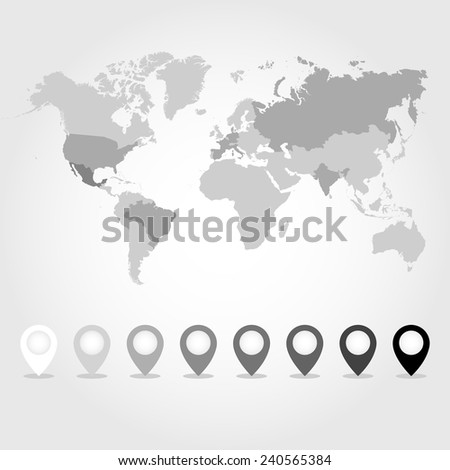 World map icons set great any stock vector hd royalty free world map icons set great for any use vector eps10 gumiabroncs Images