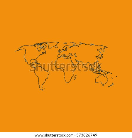 World map illustration. - stock vector