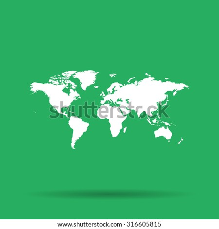 World map illustration flat design style stock vector 309858485 world map illustration flat design style eps 10 gumiabroncs Images