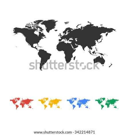 World map illustration flat design style stock vector 321063740 world map illustration flat design style eps 10 gumiabroncs Gallery