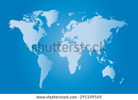 World map illustration vector with borders