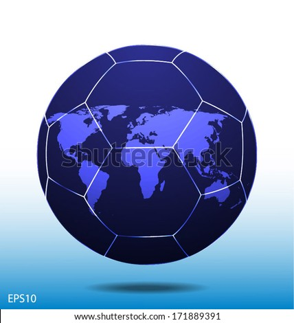 World map football soccer ball frame stock vector 171889391 world map in football soccer ball frame gumiabroncs Image collections