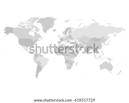 Grey political world map white background vectores en stock world map in four shades of grey on white background high detail blank political map gumiabroncs