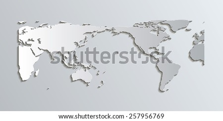 World Map in Patterson Projection, centered on the Pacific This projection is a good alternative to other projections like Mercator because it has less distortion towards the poles.