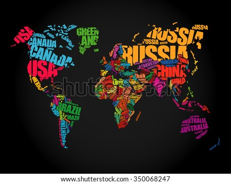 World map typography word cloud concept stock vector 2018 world map typography word cloud concept stock vector 2018 350068247 shutterstock gumiabroncs Choice Image