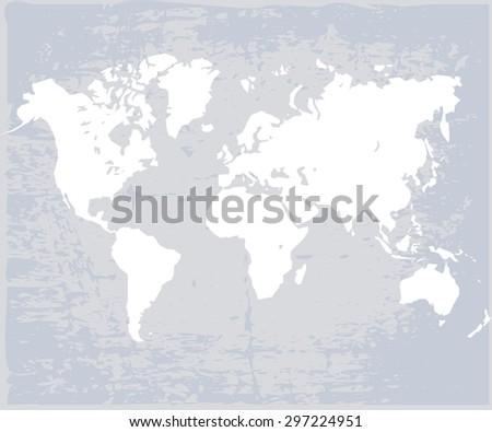 World map in vector - stock vector