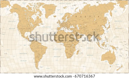 World map vintage style high detailed vectores en stock 670716367 world map in vintage style high detailed worldmap vector illustration gumiabroncs Image collections
