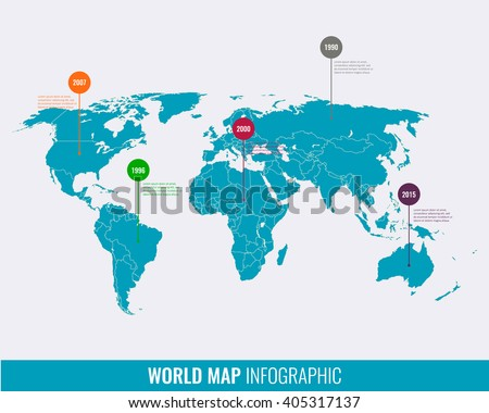 World map infographic template vector stock vector hd royalty free world map infographic template vector gumiabroncs Choice Image