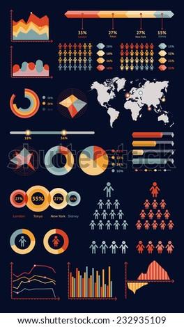 World map infographic. Vector illustration - stock vector