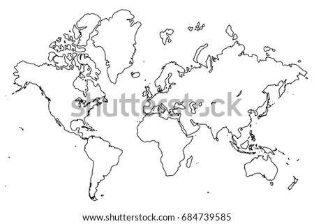 World map isolated best popular world vectores en stock 684739585 world map isolated best popular world map vector blank gray similar world map template gumiabroncs Choice Image
