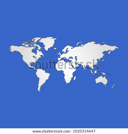 World map isolated flat vector poster stock vector 1020314647 world map isolated flat vector poster gumiabroncs Choice Image