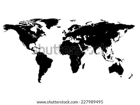 world map isolated on a white background - stock vector