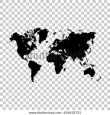 World map isolated on transparent background stock vector royalty world map isolated on transparent background black map for your design vector illustration gumiabroncs Image collections