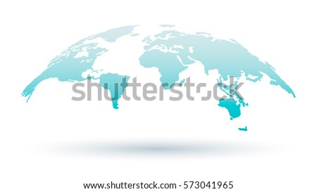 World Map Isolated on White Background. Design Element for Business Presentation, Web, Arts, Education. Vector Illustration