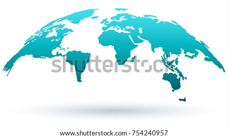World map isolated on white background vector de stock754240957 world map isolated on white background vector de stock754240957 shutterstock gumiabroncs Image collections