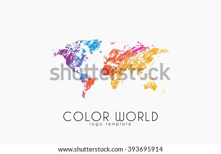 World map logo world logo color vector de stock393695914 shutterstock world map logo world logo color world creative logo travel logo design gumiabroncs Image collections