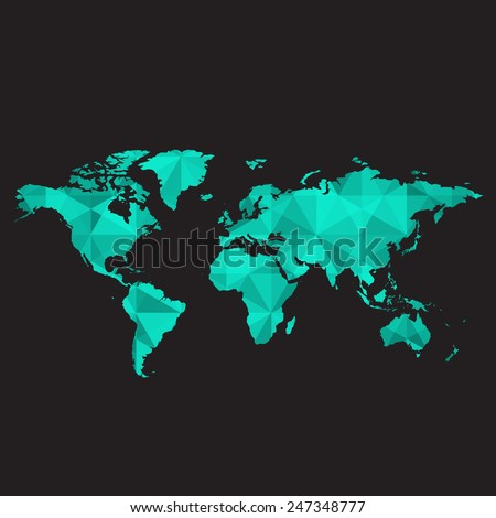World map low poly vector stock vector 247348777 shutterstock world map low poly vector gumiabroncs Images